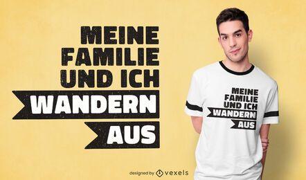 Diseño de camiseta de cita de emigración