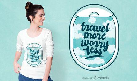 Design de camiseta de viagem