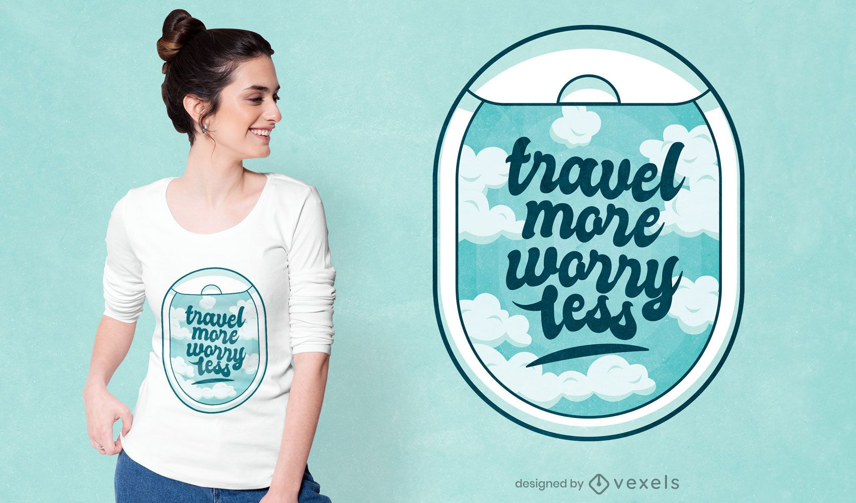 Diseño de camiseta de cita de viaje