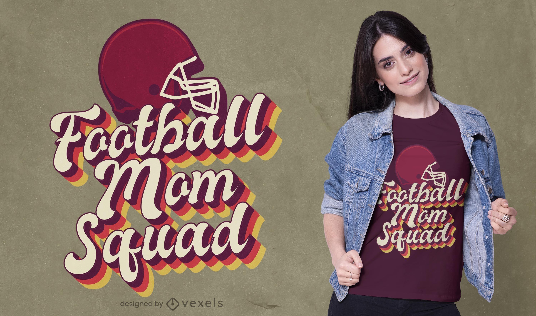 Diseño de camiseta de equipo de mamá de fútbol