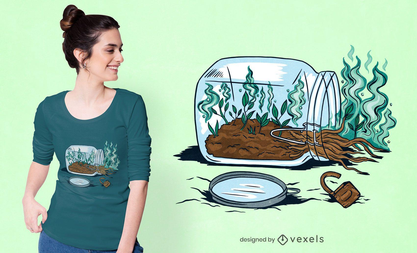 Magic roots t-shirt design