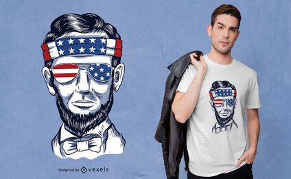 Design de camiseta engraçada abraham lincoln