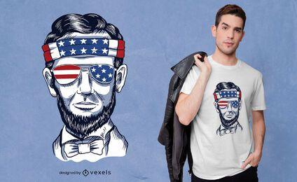 Diseño divertido de la camiseta de abraham lincoln
