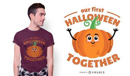 Halloween zusammen T-Shirt Design