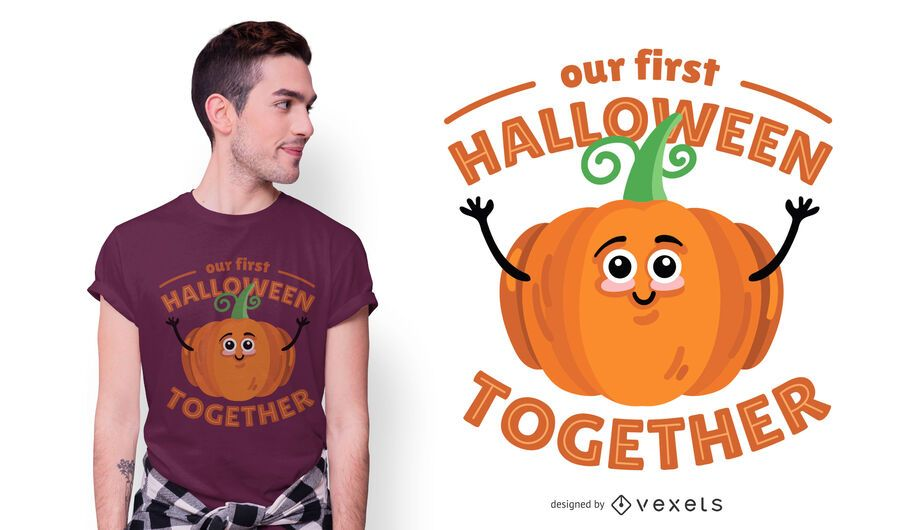 Diseño de camiseta de halloween juntos