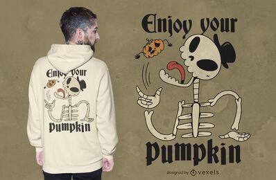 Disfruta el diseño de tu camiseta de calabaza