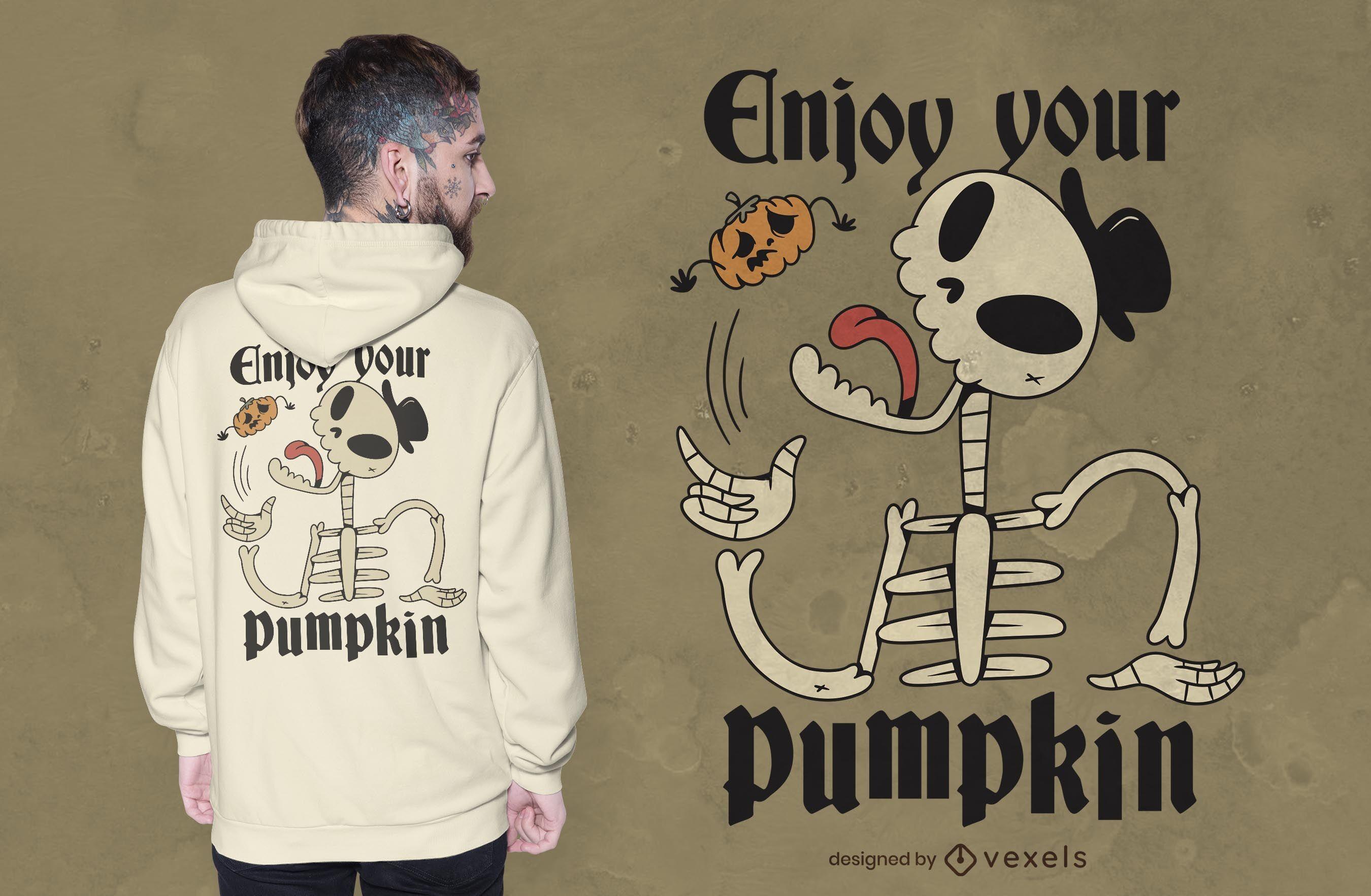 Enjoy your pumpkin t-shirt design