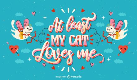 Anti valentine's day lettering design