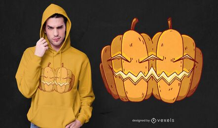 Siamese pumpkins t-shirt design