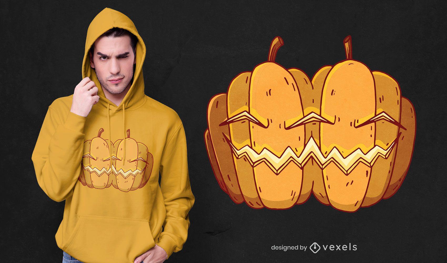Siamese pumpkins t-shirt design