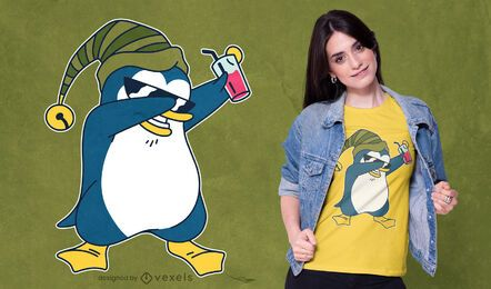 Design de t-shirt de pinguim dabbing