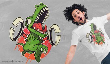 Design de camisetas T-rex grabbers