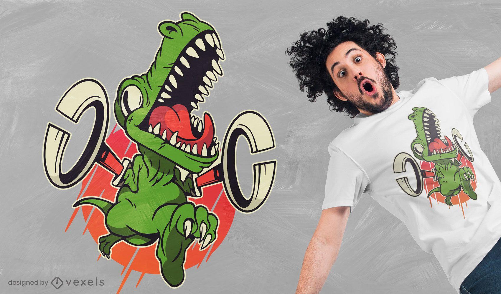 T-rex grabbers t-shirt design