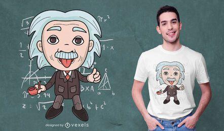 Diseño de camiseta de juguete Einstein.