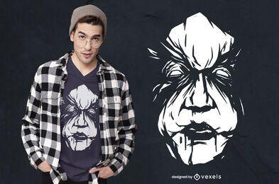 Design de t-shirt assassino assustador