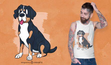Design de camiseta para cachorro suíço