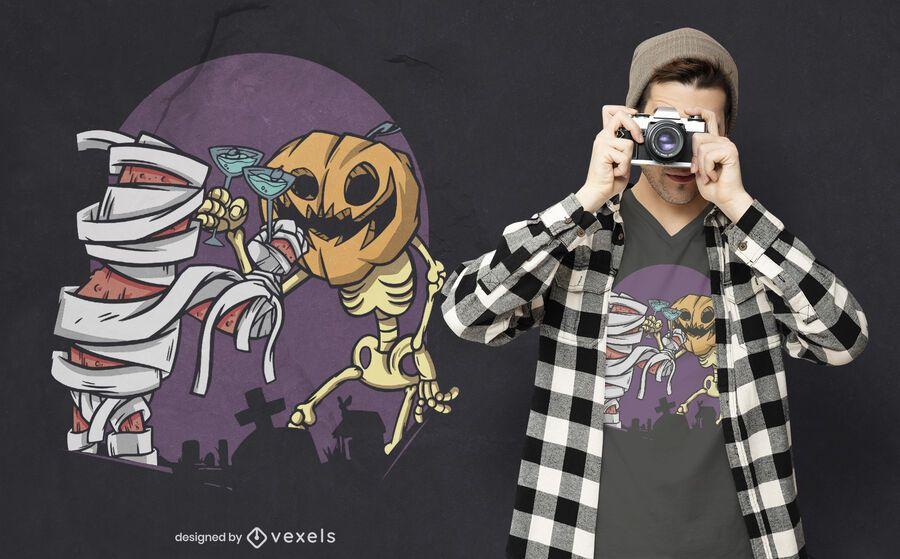 Design de t-shirt para o Dia das Bruxas