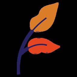 Hojas de otoño hojas planas