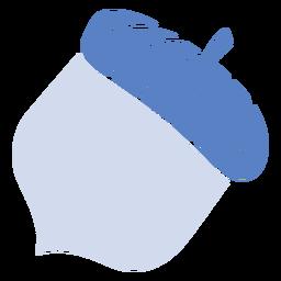 Bellota plana bellota azul