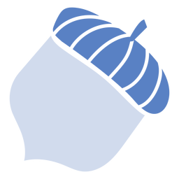 Blue acorn flat acorn