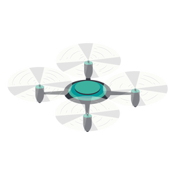 Circular drone illustration drone