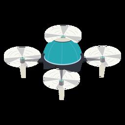 Drone de ilustração de drone voador circular