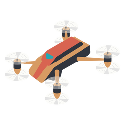 Compact drone illustration drone