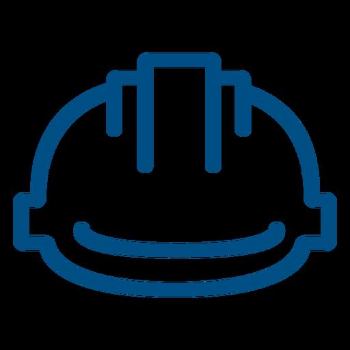 Construction helmet stroke icon helmet