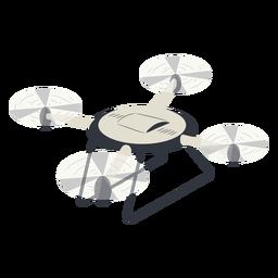 Drone con drone de ilustración de tren de aterrizaje