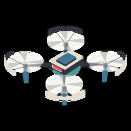 Drone con ilustración de protección drone