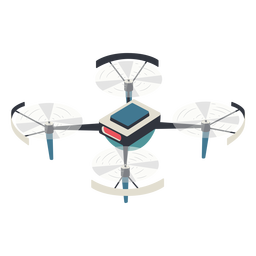 Drone with protection illustration drone