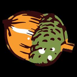 Ilustración de bellota de otoño bellota