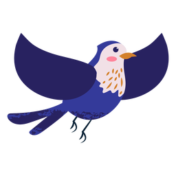 Flying blue bird illustration bird
