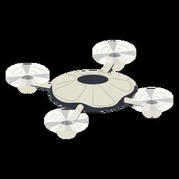 Drone de ilustración de drone quadcopter circular volador