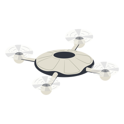 Flying circular quadcopter drone illustration drone