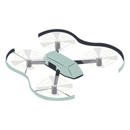 Flying drone with protection illustration drone