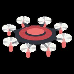 Drone de ilustración de drone octacoper volador