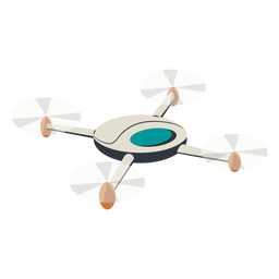 Flying quadcopter drone ilustración drone