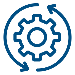 Gears turning stroke icon gears