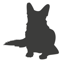 German shepherd laying down silhouette dog