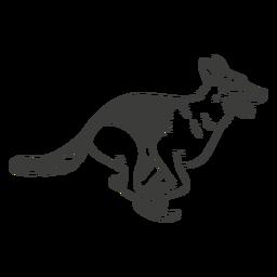 Pastor alemán corriendo perro dibujado a mano