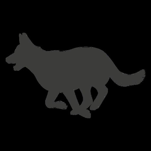 German shepherd running silhouette dog