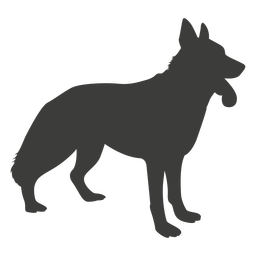 German shepherd side silhouette dog