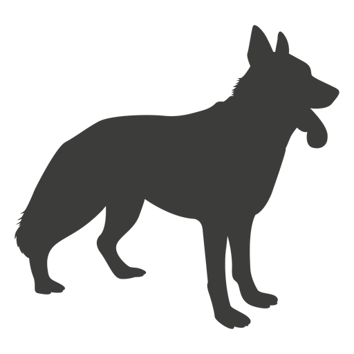 Perro pastor alemán silueta lateral