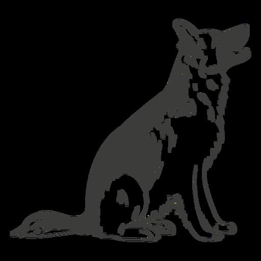 Handgezeichneter Hund des Deutschen Schäferhundes
