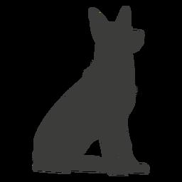 Pastor Alemán sentado silueta perro