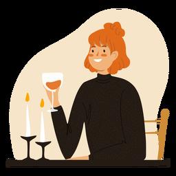 Jengibre con jengibre de carácter copa de vino