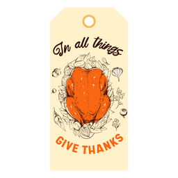 Give thanks turkey tag thanksgiving