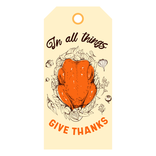 Give thanks turkey tag thanksgiving Transparent PNG