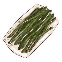 Green beans illustration thanksgiving